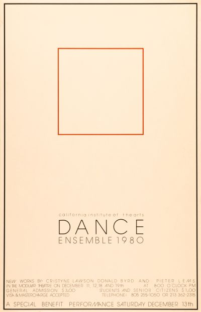 CalArts poster: Dance Ensemble 1980 by