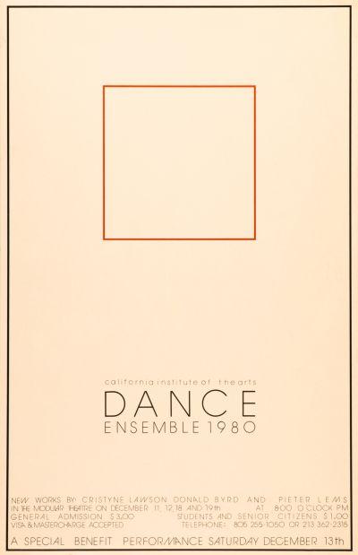 CalArts poster: Dance Ensemble 1980 by