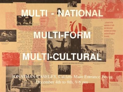 CalArts poster: Multi-National Multi-Form Multi-Cultural 1 by Somi Kim