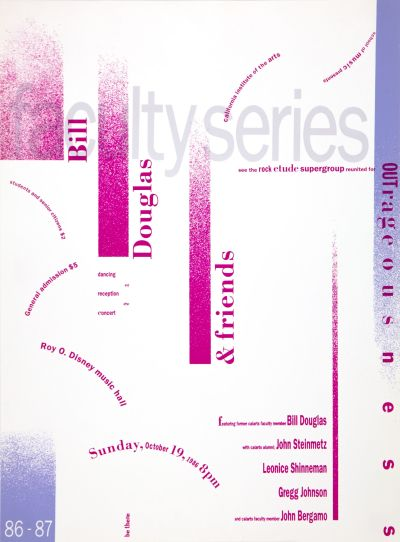 CalArts poster: Faculty Series: Bill Douglas by