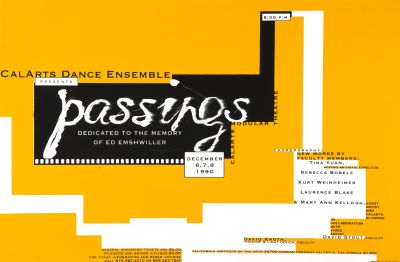 CalArts poster: Passings by Robin Cottle