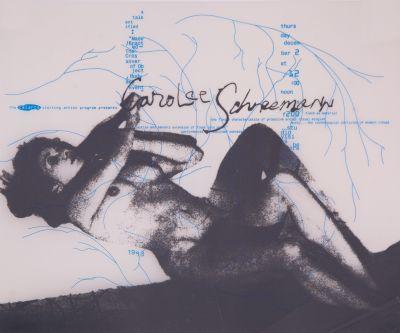 CalArts poster: Carolee Schneeman by Deborah Littlejohn