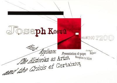CalArts poster: Joseph Kosuth by