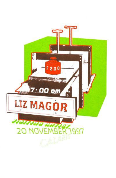 CalArts poster: Liz Magor by Andrea Tinnes