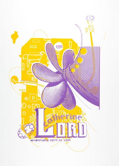 CalArts poster: Catherine Lord by Anita Lozinska Sharon Cardinal