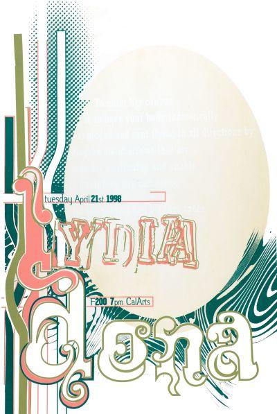 CalArts poster: Lydia Dona by Pirco Wolfframm