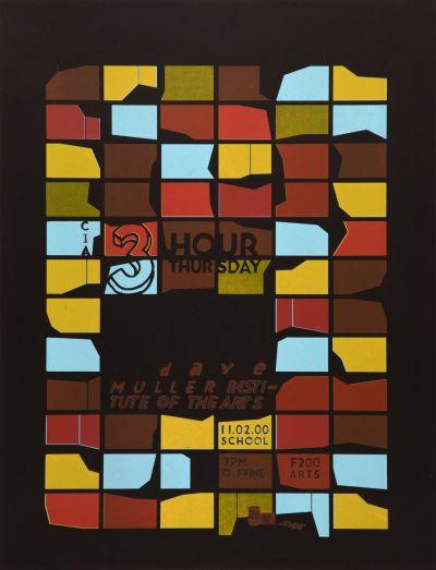CalArts poster: 3 Hour Thursday Dave Muller by Jessica Fleischmann Tuan Phan