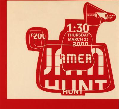 CalArts poster: Jamer Hunt by Jessica Fleischmann