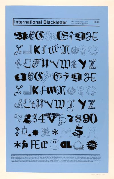CalArts poster: International Blackletter by Ian Lynam