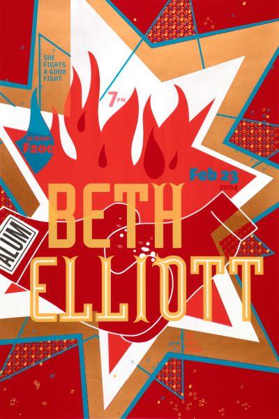 CalArts poster: Beth Elliott by Emily Morishita Penny Pehl