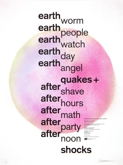 CalArts poster: Earthquakes & Aftershocks by Florencio Zavala