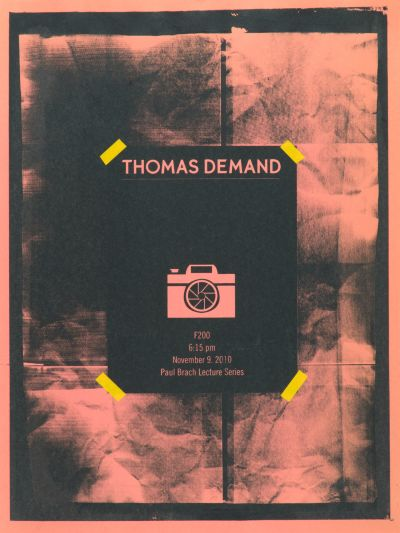 CalArts poster: Thomas Demand by Julie Moon