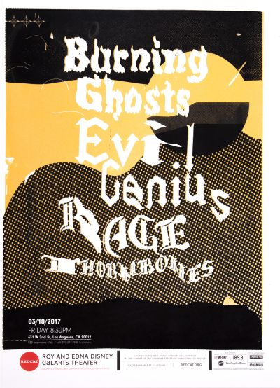 CalArts poster: Burning Ghosts by Bradley Krebs Peri Levin