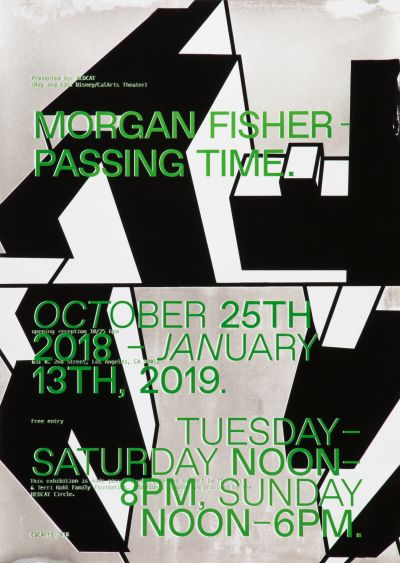 CalArts poster: Morgan Fisher: Passing Time by David Weiss Lyla Zhou