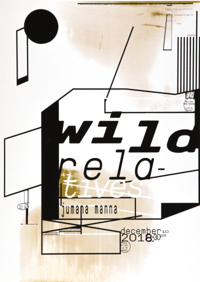 CalArts poster: Wild Relatives by David Weiss