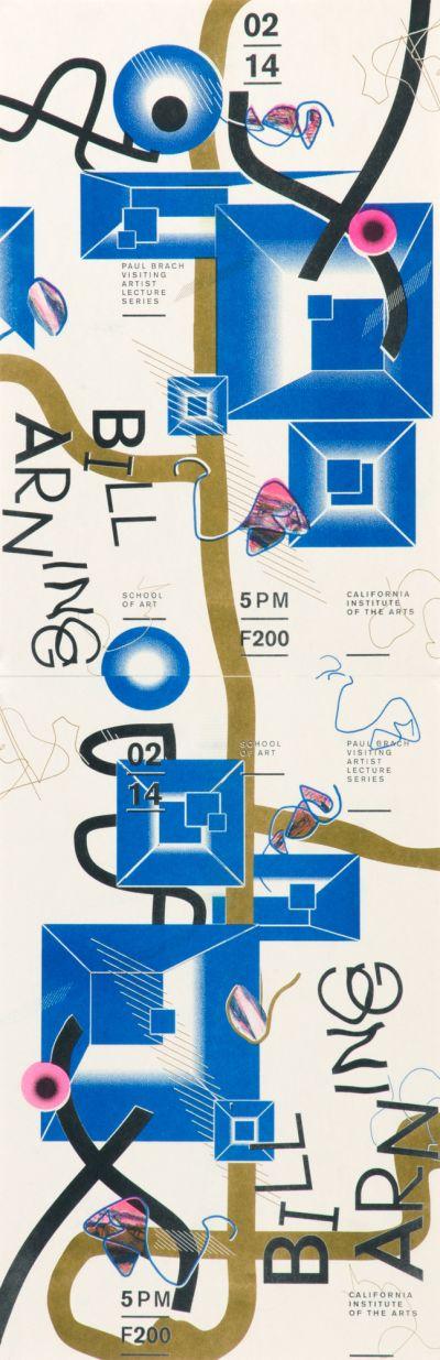 CalArts poster: Bill Arning by Christina Huang Onyou Kim