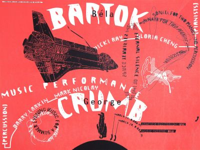 CalArts poster: Bartok / Crumb by Barry Deck