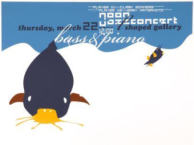 CalArts poster: Jazz Concert Bass & Piano by David Grey