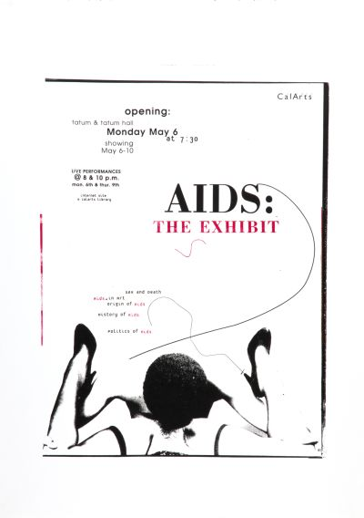 CalArts poster: Aids: The Exhibit by