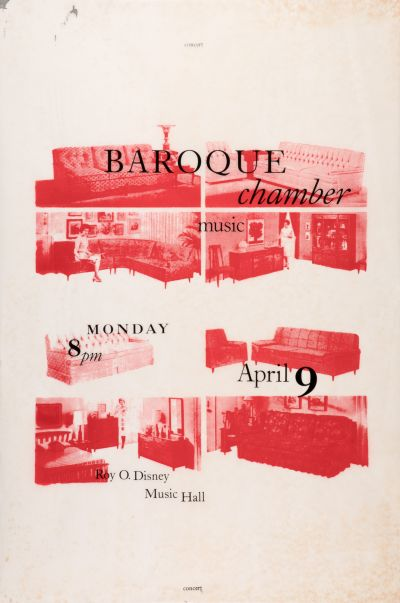 CalArts poster: Baroque Chamber Music by