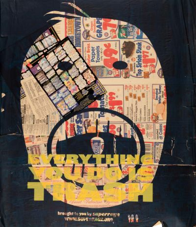 CalArts poster: Everything You Do Is Trash by Brian Roettinger Daniela Marx Jennifer Hopkins Samuel Farfsing Tuan Phan