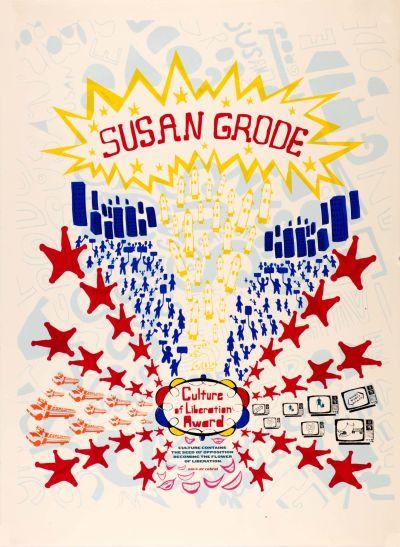 CalArts poster: Susan Grode by Brian Roettinger Daniela Marx Jennifer Hopkins Samuel Farfsing Tuan Phan