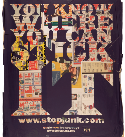 CalArts poster: You Know Where You Can Stick It by Brian Roettinger Daniela Marx Jennifer Hopkins Samuel Farfsing Tuan Phan