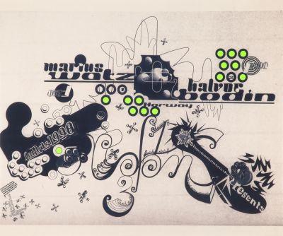 CalArts poster: Marius Watz + Halvor Bodin by Ana Llorente Andrea Tinnes HweeMin Loi Jose Allard Lee Schulz Pirco Wolfframm