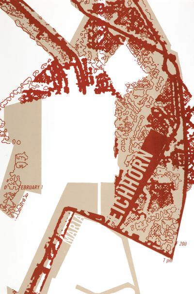 CalArts poster: Maria Eichhorn by Juliette Bellocq
