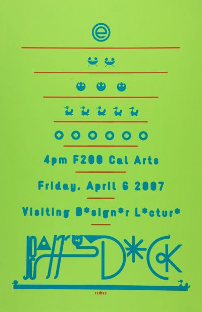 CalArts poster: Barry Deck by Florencio Zavala Kate Cardoza