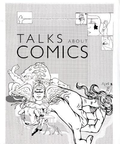 CalArts poster: Brian Tucker Talks About Comics by