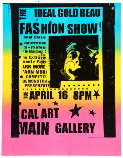 CalArts poster: The Ideal Gold Beau Fashion Show by