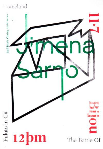 CalArts poster: Jimena Sarno by Yinchen Niu