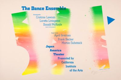 CalArts poster: The Dance Ensemble by April Greiman