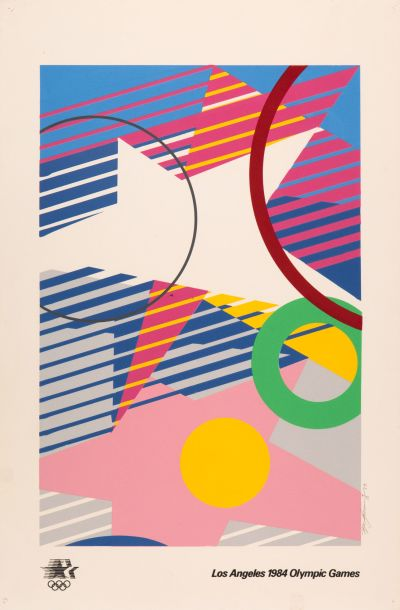 CalArts poster: Los Angeles 1984 Olympic Games by