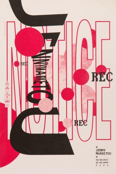 CalArts poster: Jenny Marketou by Henrique Eira Iris Chung