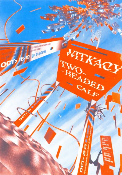 CalArts poster: Witkacy Two-Headed Calf by Alex Cerutti