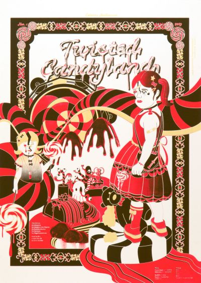 CalArts poster: Twisted Candyland by Allison Hsiao David Yoo