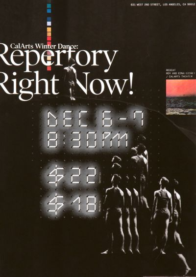 CalArts poster: Repertory Right Now! by Allison Hsiao Tiana Li