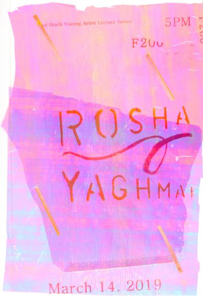 CalArts poster: Rosha Yaghmai by Emma Berliner Nadia Haile