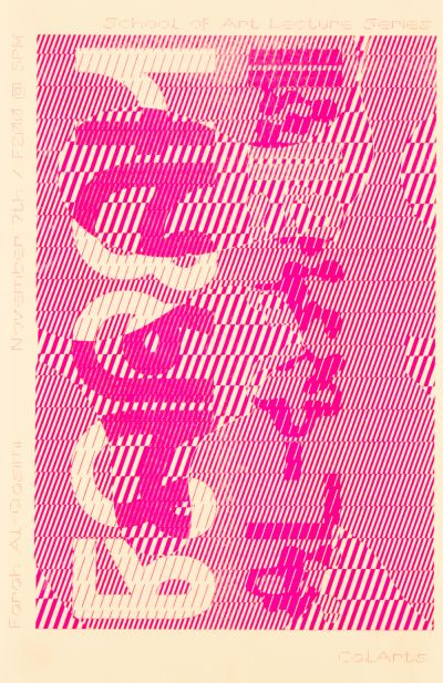 CalArts poster: Farah Al-Qasimi by Emma Berliner Xiyu Deng