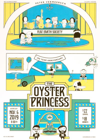 CalArts poster: The Oyster Princess by Bryan Gelderbloom Gian Montes