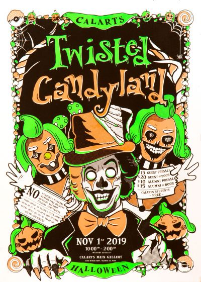 CalArts poster: Twisted Candyland by Gian Montes Oona Lei