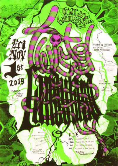 CalArts poster: Twisted Candyland by Akane Yasuda Grace Rosenman