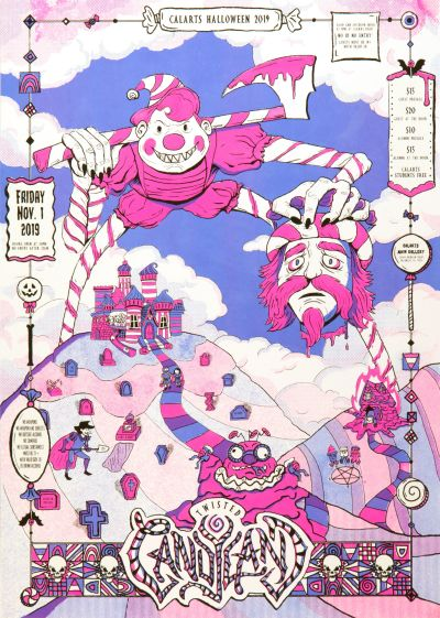 CalArts poster: Twisted Candyland by Bryan Gelderbloom Jessica Peng