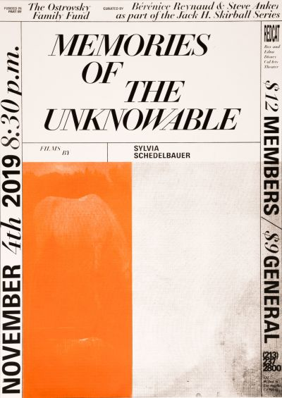 CalArts poster: Memories Of The Unknowable by Zhenyu Qu Conny Cavazos