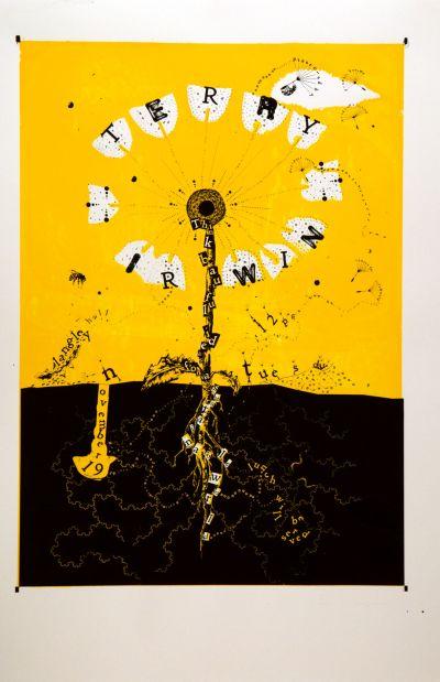 CalArts poster: Terry Irwin by Sam Jones Makena Jansen