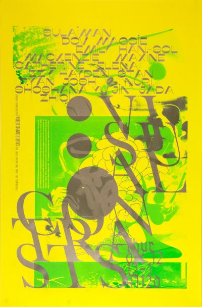CalArts poster: Visual Contrasts (BFA1 class collaboration) by Emma Berliner Scott Zukowski