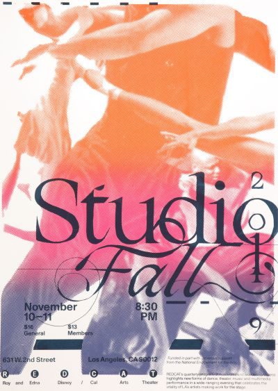 CalArts poster: Studio Fall by Ethan Ostling Tiana Li