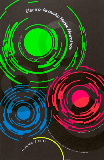 CalArts poster: Electro-Acoustic Music Marathon by